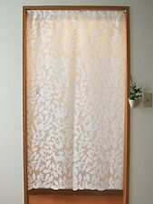 Noren japanese goodwill string screen 88× 150cm woody white made in japan