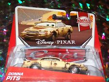 "DISNEY PIXAR CARS ""DONNA PITS"" Die-Cast Metal, Scale 1:55, BRAND NEW, Mattel"