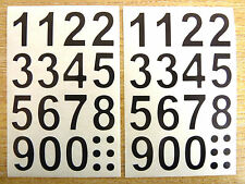 25mm (1 inch )  Black Sticky Vinyl Numbers Stickers Self-Adhesive  Labels signs
