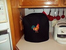 Kitchen aid mixer cover  black with beautifully embroidered rooster
