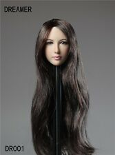 DREAMER 1:6 Scale Action Figure Accessory Girl Female Long Hair HeadSculpt DR001