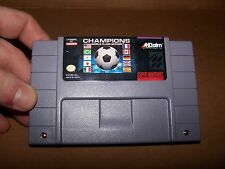 Super Nintendo Champions World class Soccer  game cartridge