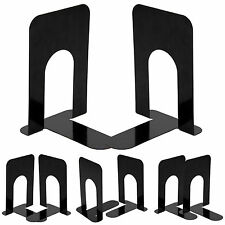 """4 Pairs 8"""" Heavy Duty Metal Bookends Book ends Home Office Supplies Stationery 8"""