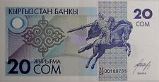"""BILLETE """"  Kirguistán  ** Kyrgyzstan    20   SOM    AÑO  1993   UNC   PLANCHA"""