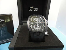 Lotus15854/4 Stainless Steel Back , Black Ruber Chronograph  Watch