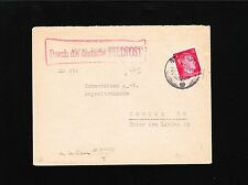 Germany 1943 Feldpost Willy Bley Paris Censor 12p Hitler Head Cover - Germany 5w