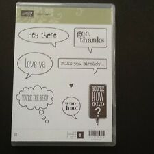 "Stampin Up Retired """" Just Sayin' """"  Clear Mount Stamp Set"