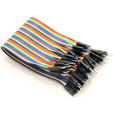 40Pcs Male to Male dupont color cable 2.54mm 20cm For Arduino IC pin 40p