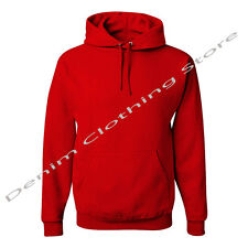 MEN WOMEN HOODED WARM SWEATSHIRTS SOLID FLEECE PULLOVER HOODIE SIZE: S-5XL