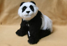 PANDA BEAR 12 INCH POSEABLE Soft Sculpture OOAK by Bear Artist ~DAL ~