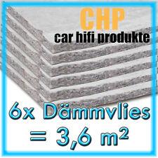 6x Dämmvlies 3,6m² selbstklebend CHP 10mm KFZ Schalldämmung PKW 6 Matten