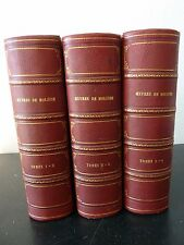 Oeuvres de MOLIERE 6 Tomes 3 Volumes PETITOT JP AILLAUD -  in 8 - 1829
