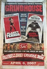 Grindhouse Original Movie Theatre Poster NOT A REPRINT Death Proof Planet Terror