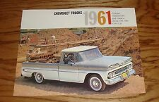 1961 Chevrolet Truck Sales Brochure 61 Chevy Pickup Chassis-Cab Stakes