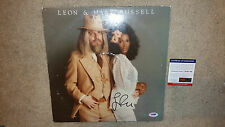 Leon Russell and Mary Wedding Album signed autograph LP album cover PSA