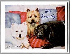 Dog Notecards Sympathy Message Set of 6 + Envelopes Pets We Love In Our Hearts