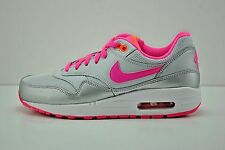 Nike Air Max 1 GS Running Shoes Youth Sz 5 = Womens Sz 6.5 Grey Pink 653653 005