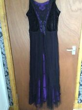 Dark Star Gothic Black&Purple Dress