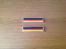 2x GERMANY NATIONAL FLAG METAL BADGE EMBLEMS - BMW - MERCEDES - AUDI - VW