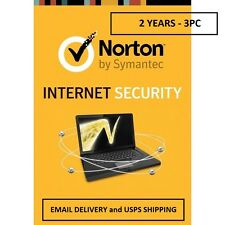 Norton Internet Security 2 YEARS - 3PC - Email Delivery and USPS Delivery