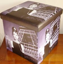 Audrey Hepburn Folding Storage Box Footstool