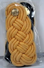 US Army Male Officer Shoulder Knots Gold Color Rayon with Box for Mess Dress
