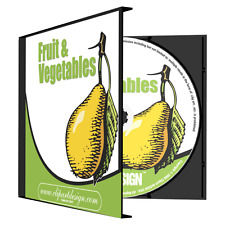 FRUIT + VEGETABLES CLIPART-VINYL CUTTER PLOTTER IMAGES-EPS VECTOR CLIP ART CD