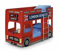 Childrens Novelty Red London Bond Street Bus Bunk Bed by Julian Bowen RRP £399