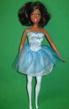 BLACK  BARBIE-BALLERINA-BLUE DRESS & TIGHTS