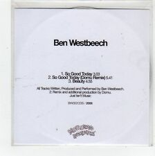 (FC898) Ben Westbeech, So Good Today - DJ CD