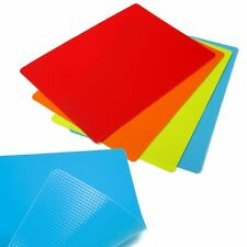 "Norpro Gripping Flexible Cutting Mats Non Slip Slice Boards 4 Pc Set  15"" x 11"""