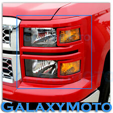 14-15 Chevy Silverado 1500 Extended+Crew Cab Victory RED Headlight Trim Cover