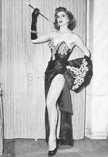 Original Vintage French 1940s-60s Photo Card- Glamour Lady- Legs- Gloves- Dress