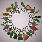 Wizard Of Oz Bracelet Witch Ruby Shoes Monkey Dorothy Toto ++ Charms
