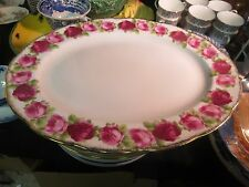 "Royal Albert Old English Rose 15"" Oval Serving Platter"