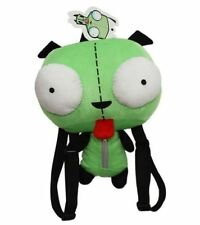 Rare Alien Invader Zim 3D Eyes Robot Gir Soft Stuffed Plush Backpack Bag Gift