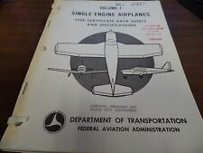 Single Engine Airplanes Vol 1 Multiple Issue 77/78 Ex-FAA Library 022916ame