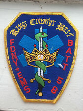 """FDNY EMS Battalion 58 """"Kings County's Best"""" Patch."""