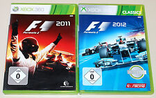 2 XBOX 360 SPIELE BUNDLE - F1 2011 & F1 2012 - FORMULA ONE RACING FORMEL EINS