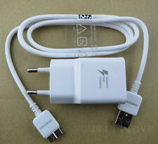 Adaptive Fast Charging OEM EU plug Charger USB Cable For Samsung Galaxy Note3 S5
