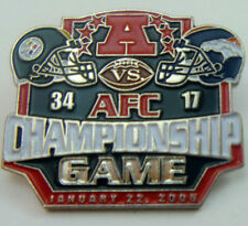 Pittsburgh Steelers LE 2005 AFC Championship Pin vs Denver Broncos