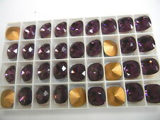 6 swarovski fancy stones,14mm amethyst/foiled #4470