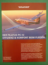 10/2006 PUB AVION PILATUS PC-12 SWISS AIRCRAFT FLUGZEUG ORIGINAL GERMAN AD