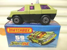 LESNEY MATCHBOX 1975 MB59C AVOCADO + BLACK PLANET SCOUT MINT IN MINT BOX*
