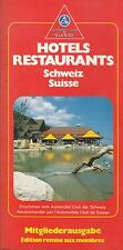 AUTOMOBILE CLUB DE SUISSE - ANCIEN GUIDE HOTELS RESTAURANTS 1987 - ACS SCHWEIZ