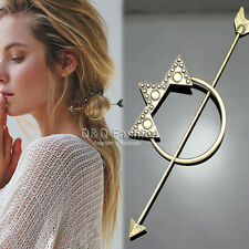 Victorian Gold Dot Triangle Hoop Arrow French Updo Hair Pin Clip Dress Stick W8