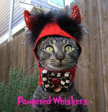 "Little Devil Halloween devil costume for cats and dogs 7-11"" collar size"