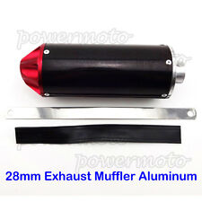 28mm Aluminum Exhaust Muffler For SSR IMR Atomik Mini Motocross Pit Dirt Bike