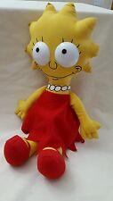 """Vintage 1990 The Simpsons Lisa Simpson Rag Doll 16"""" plastic eyes Matt Groening"""