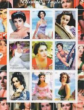 ELIZABETH TAYLOR HOLLYWOOD MOVIE ICON TURKMENISTAN 2000 MNH STAMP SHEETLET
